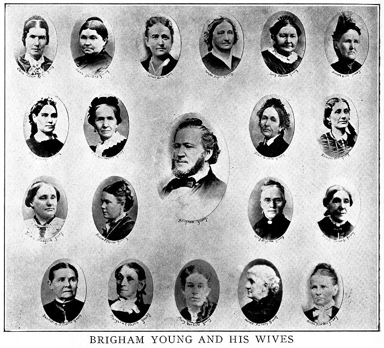 [Brigham with some of his wives]