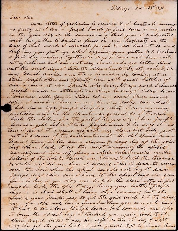The Salamander Letter